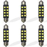 Yoper 211-2 212-2 6411 578 LED Light Bulbs for Interior Dome Map Door Courtesy License Plate White Canbus Error Free Festoon (41MM)