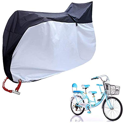 Wxnnx Cubierta para bicicleta, portátil, resistente, 190T poliéster, impermeable, anti polvo, lluvia, protección UV para la madre exterior y la bicicleta del bebé
