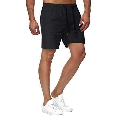 Pantalones cortos deportivos para correr para hombre Color sólido ropa de baño masculina de secado rápido con bolsillo ideal para surfear en el gimnasio en oferta