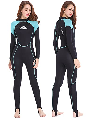 XUKER Wetsuits Women Men Youth 2mm Neoprene Wet Suits for Women in Cold Water Full Body Dive Suit for Diving Snorkeling Surfing Swimming Canoeing