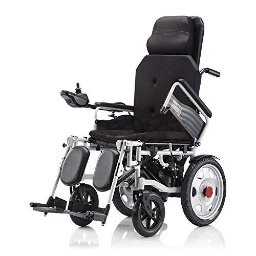 Chair Silla de Ruedas eléctrica Liviana y Plegable, con Respaldo reclinable
