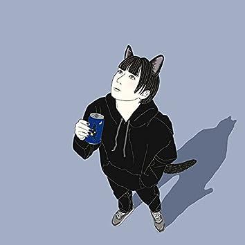 Flying Black Cat