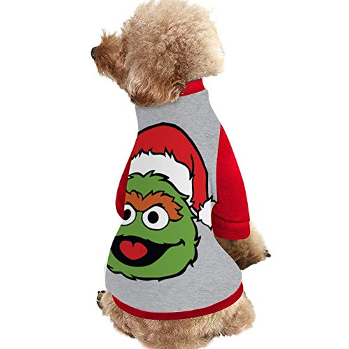SES-AME Street Oscar The Grouch Christmas Hat Pet Clothes, pet cat Sweater, Warm Dog Sweater, Dog Winter Clothes and Plush Dog Clothes