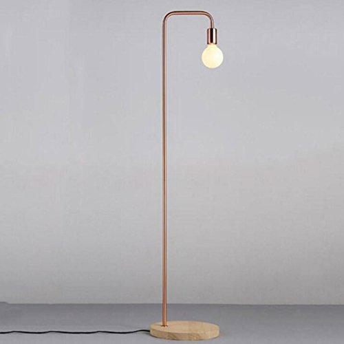 JAYLONG Moderne Simple Personnalité Lampadaire, Nordic Design Bureau Chambre Salon Vertical Fer Lampadaire (Couleur: Bronze/Noir), Floor lamp/Copper