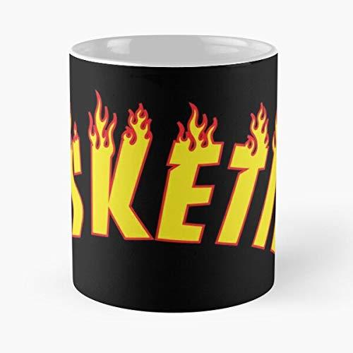 Skelanimals Skater Lil It Pop Art Esskettit Get Beast Rapper Esketit Lets Pump Thrasher Hype Best Mug Tiene 11oz de Mano Hechas de cerámica de mármol Blanco