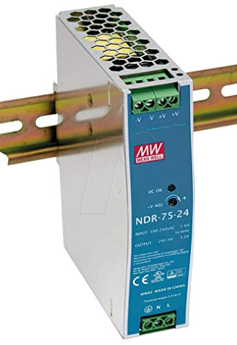 Preisvergleich Produktbild MeanWell Netzteil 75W 12V 6, 3A Hutschienennetzteil NDR-75-12 schmal 32mm sparsam