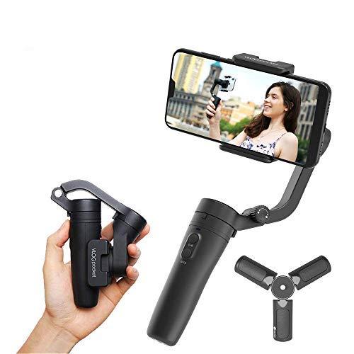 FeiyuTech VLOGpocket a 3 assi - Stabilizzatore portatile per Smartphone IPhone Sumsung Huawei XiaoMi TCL con mini treppiede - Scuro