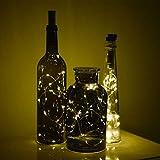 Flaschen Lichter Flaschenlicht AA Batteriebetrieben, 8er Pack 20-LED 39 inch warm-weiß Korken Sternenklar Kabel Lichterkette für Flaschen zum Selbermachen, Valentinstag, Party, Festliches Dekor LG04 - 8