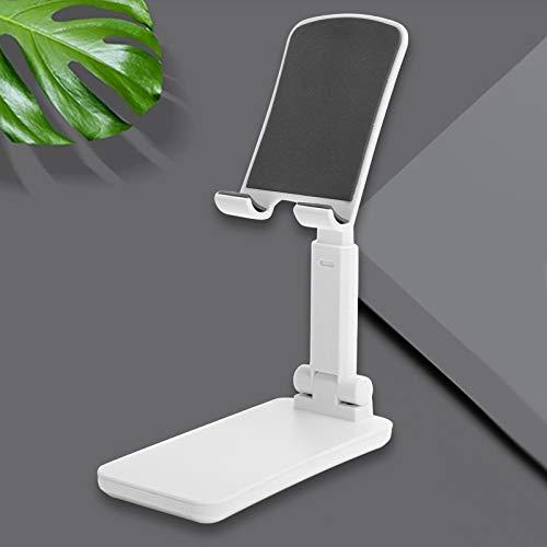 SONK Soporte Universal para teléfono, Soporte Ajustable para teléfono Soporte Plegable de tamaño pequeño para Tableta para teléfonos móviles y tabletas de Menos de 12,9 Pulgadas(White)