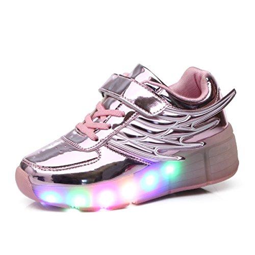 No Recargable Unisex Led Luz Automática de Skate Zapatillas con Ruedas Zapatos...