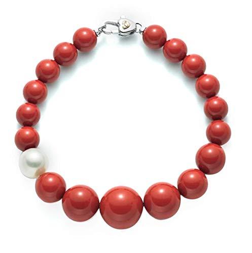 Miluna Bracciale Corallo Rosso e Perla PBR1802V