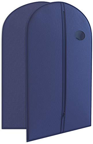 """Navy Suit Garment Travel Bags -Heavy Duty and Lightweight 40"""" X 24"""" - Your Bags"""