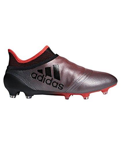adidas X 17+ FG, Chaussures de Football américain Homme, Gris (Grey/Cblack/Reacor 000), 43 1/3 EU