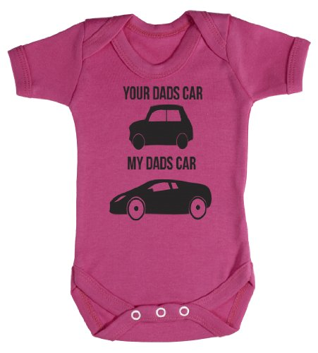 Baby Buddha - My Dads & Your Dads Car Baby Bodysuit Baby Top 6-12M Pink
