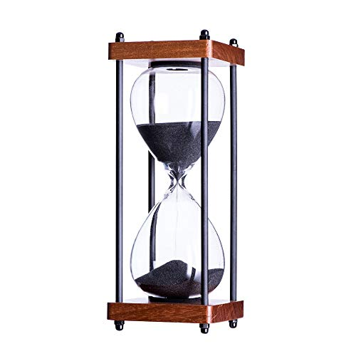 Bellaware Large Hourglass Timer, 30 Minutes Wooden Sand Timer, Decorative...
