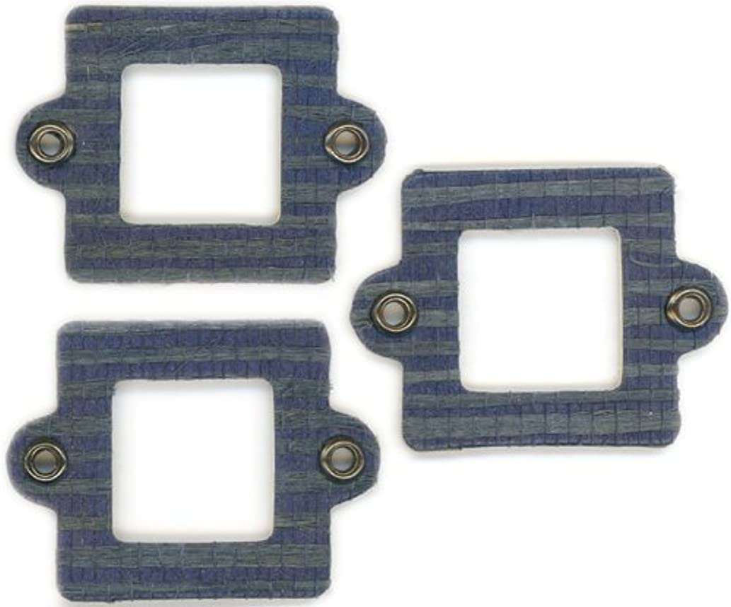 FabScraps Cardstock Mini Frames Denim/Square with Eyelets, 3 Per Package