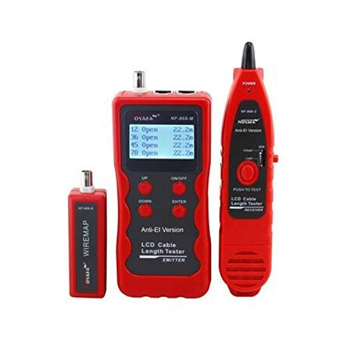YEZIN Herramienta de Prueba de Alambre NF-868 multipropósito Digital del perseguidor del Cable Longitud for Prueba de tanteo de la Red de Cable probador probador LAN