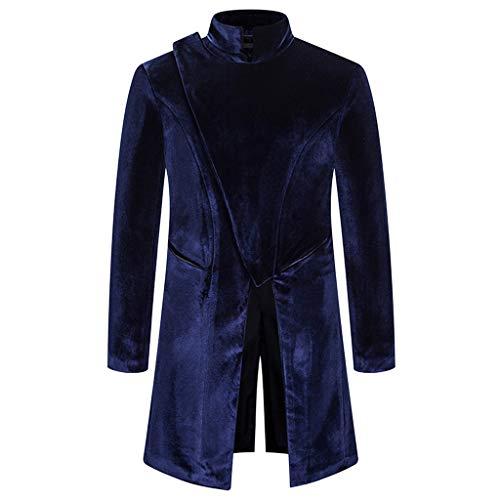 Azruma Herren Gothic Steampunk Wintermantel Jacke Bankett Kleid Parka Männer Uniform Praty Outwear Kurz Mantel Warm Atmungsaktiv Bequem Kleidung Top Outwear Coat