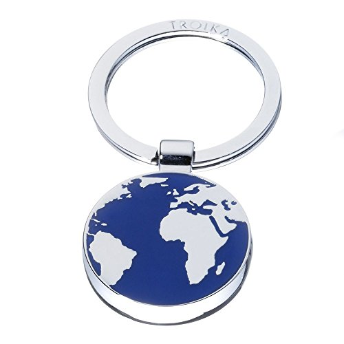 Troika AROUND THE WORLD Portachiavi ad anello e catena 7 centimeters Multicolore (Silber-Blau)