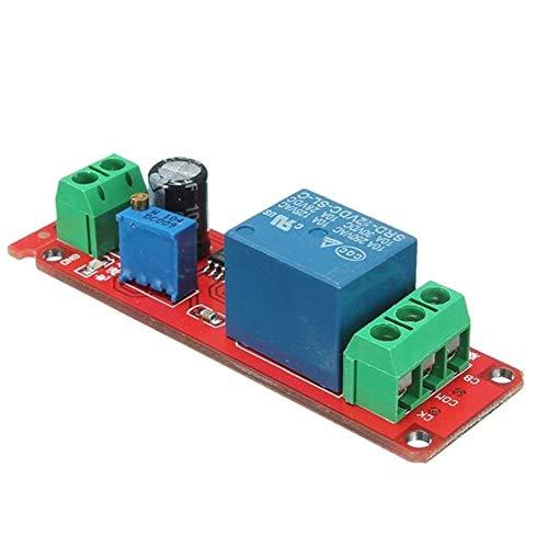 Módulo de relé electrónico 12V NE555 oscilador temporizador de retardo de conexión del módulo ajustable 0-10 Segundo 3 piezas