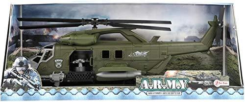 Toi-Toys Helicóptero de Ataque de Juguete Militar EJÉRCITO con fricción