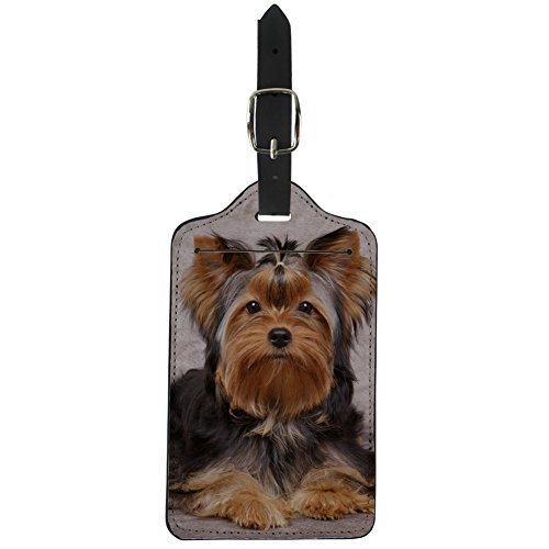 Coloranimal Durable Luggage Tags 3D Animal Yorkshire Terrier Printed Suitcase Labels