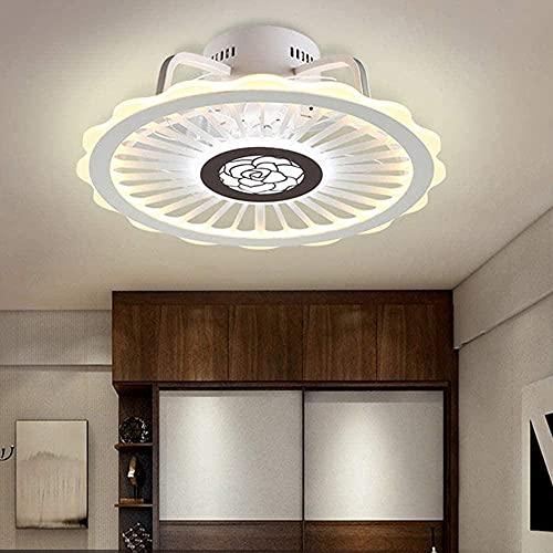 YIQIFEI Ventilador de Techo con iluminación y Control Remoto Luces de Techo Modernas Regulables 36W 3 Tiempos 3 velocidades Ventilador de Techo Colgante Li (luz del Ventilador)