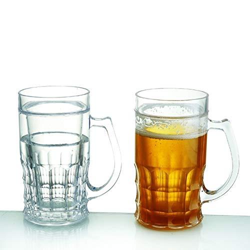 Mug rafraichissant pour bière 400 ML Verre Double paroi réfrigérant