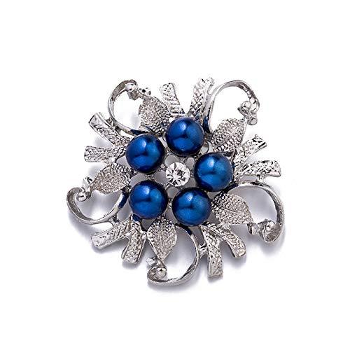 Brosche Europäische Und Amerikanische Beliebte Legierung Strass Perle Weiblicher Kragen Blumennadel Damen Zubehör(Y-3)
