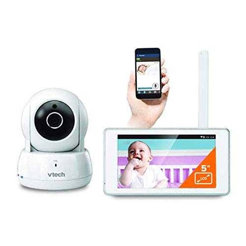 VTech BM6000 Video Baby Monitor Wi-Fi Connect 5' Safe & Sound Touch Tablet...