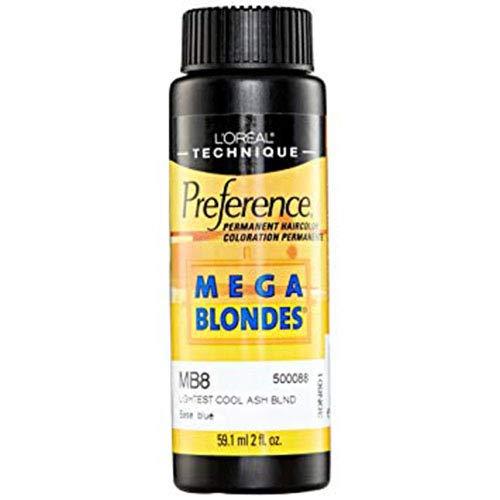 L'Oreal Preference # MB8 Mega Blonde-Light Cool Ash Blonde by L'Oreal Paris