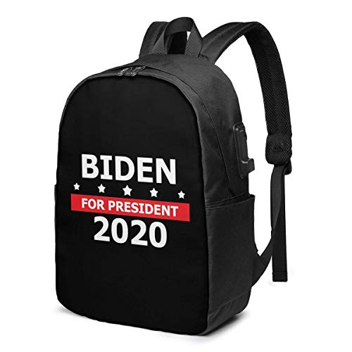 ZYWL Joe Biden President Election 2020 Laptop Backpack with USB Charging Port, Business Bag, Bookbag | Fits Most 17 Inch Laptops and Tablets