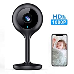 🌙【1080P HD Images and Night Vision】1080P full HD technology, the WiFi camera provides you with a clear picture quality to see the situation at home. The 8 pcs of 940nm infrared lights offer a 30-foot visible range in the dark, giving you a super nigh...