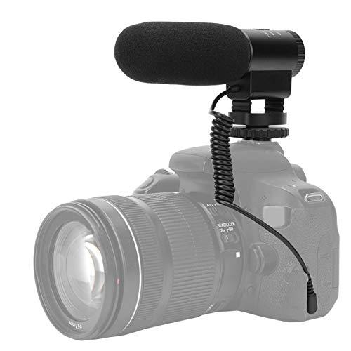 Fotografia Microfono in lega di alluminio fondo in gomma morbida Slitta in metallo di alta qualità, per interviste con fotocamera dal vivo