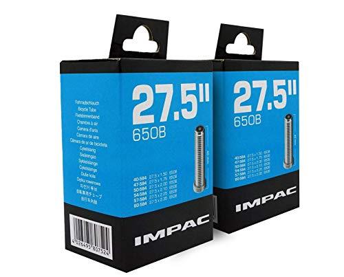 "Impac 2pk Cycle Tubes 27.5"" (650b) Valve Schrader 27.5 X 1.50-2.35/40-584 - 60-584 pour VTT"