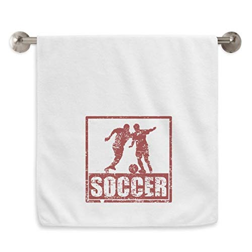 DIYthinker Rot Football-Spieler Schnappen Fußball Circlet Handtücher weichen Handtuch Waschlappen 13X29 Zoll 13 x 29 Inch Weiß