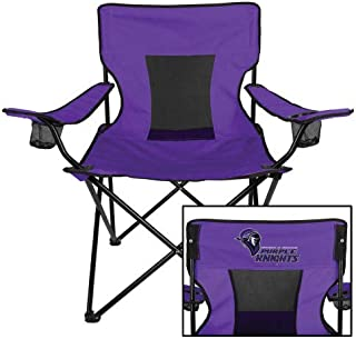 CollegeFanGear Bridgeport Deluxe Purple Captains Chair 'Purple Knights Stacked w/Knight Head'