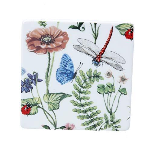 Gisela Graham Flora Fauna Untersetzer, Keramik, quadratisch