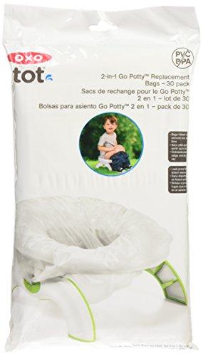 OXO TOT, Confezione da 30 sacchetti di ricambio per vasino bimbi 2 in 1