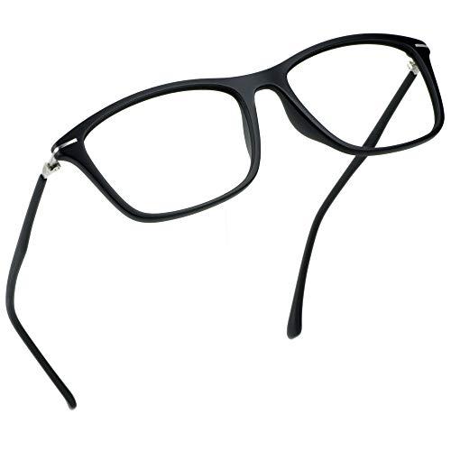 LifeArt Blaue Licht Blockieren Brille, Anti-Augen-Müdigkeit, Computer Lesebrillen, Gaming Brille, TV Brille für Frauen Männer, Anti UV, Anti Glare (Schwarz +0.25 Vergrößerung)