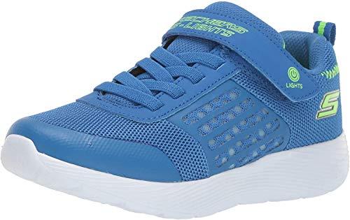 Skechers Jungen Dyna-lights Sneaker, Blau (Blue Mesh/Lime Trim Bllm), 31 EU