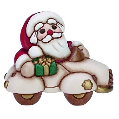 THUN ® - Babbo Natale in Automobile Piccolo - Ceramica - L 11 cm - Linea I Classici