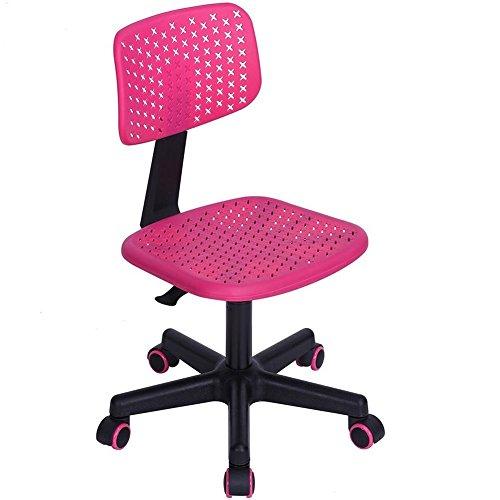 BAKAJI Sedia Scrivania Ufficio Girevole Ergonomica Altezza Regolabile con Ruote Office Casa Studio Sedia da Scrivania Ufficio (Rosa)