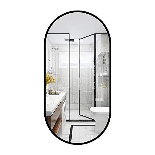 Family History Bathroom Specchio Decor, Creativa Ovale Nero Finito Parete della Struttura Specchio...