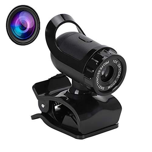 1080P Full HD Webcam, USB Webcam de Alta Definición,con Micrófono Digital Incorporado y Base de Clip,para Windows 2000/ XP/win7/win8/windows10/Vista/LINUX