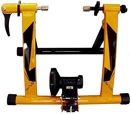 GRJKZYAM Rullo per Bicicletta per Allenamento in Casa, Rulli da Allenamento, Rulli Bici, Rulli Elite, Rulli Bicicletta Pieghevole Bici Supporto Magnetico con Regolatore velocità