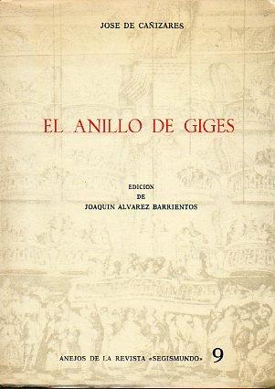 EL ANILLO DE GIGES. Edición de Joaquín Álvarez Barrientos.