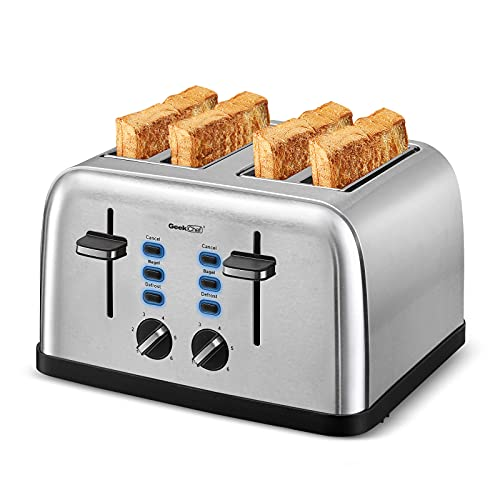 Toaster 4 Slice, Geek Chef Extra Wide Slot