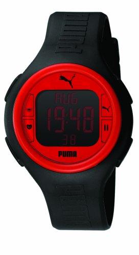 Puma PU910541002 - Reloj digital de caballero de cuarzo con correa de plástico negra (cronómetro, alarma, cuenta vueltas, luz) - sumergible a 50 metros