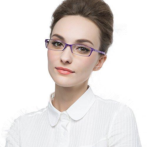 KLESIA 老眼鏡 ブルーライトカット 超軽量 コンパクトに収納 リーディンググラス ファッション (度数:+1.5, ピンク)